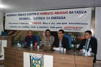 AUDIÊNCIA PÚBLICA DISCUTIU AUMENTO NA CONTA DE ENERGIA ELÉTRICA