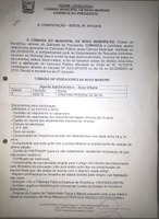 PRESIDENTE DA CÂMARA CONVOCA 3ª COLOCADA APROVADA EM CONCURSO PARA PROVIMENTO DO CARGO DE AGENTE ADMINISTRATIVO
